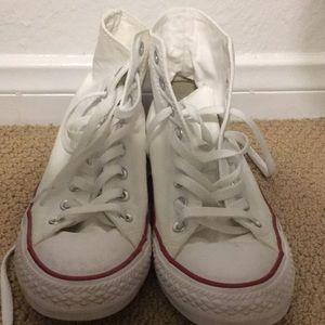 White converse size 8 in men